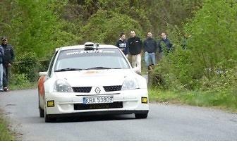 Rajdowe testy Roberta Kubicy Renault Clio S1600 z dnia 7.04.2012