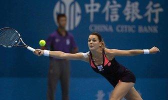1R China Open - Aga vs Stefanie Voegele